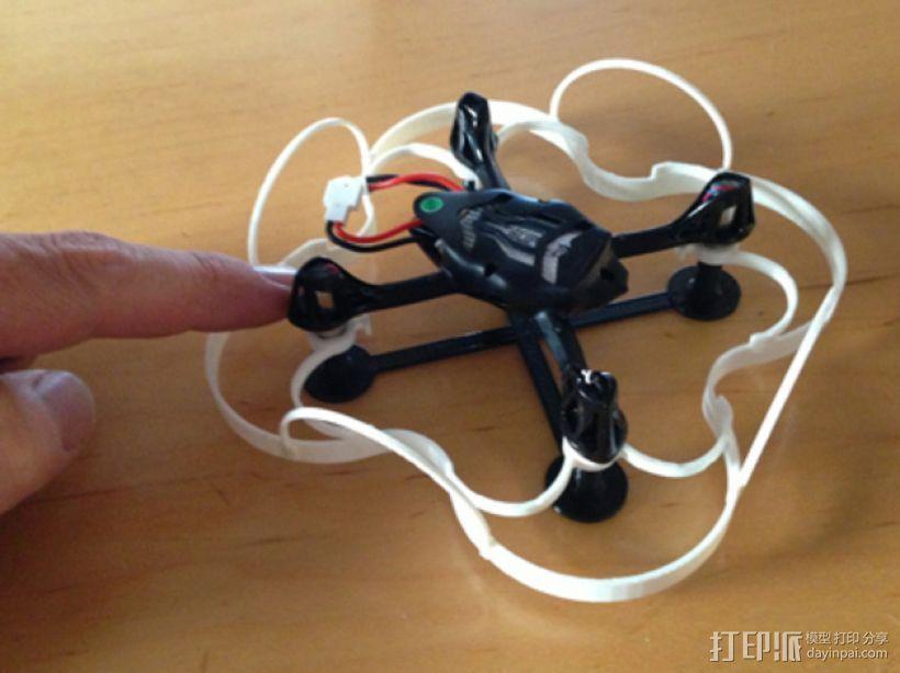 Hubsan 4x四轴飞行器保护底座 3D模型  图4