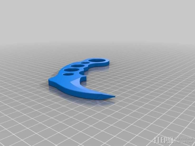 karambit弯刀 爪刀 3D模型  图1