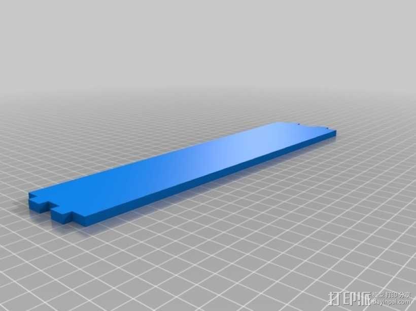 特斯拉电动汽车托架 3D模型  图3