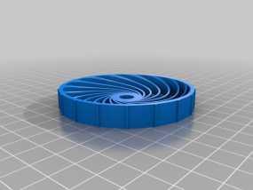 参数化螺旋轮胎 3D模型