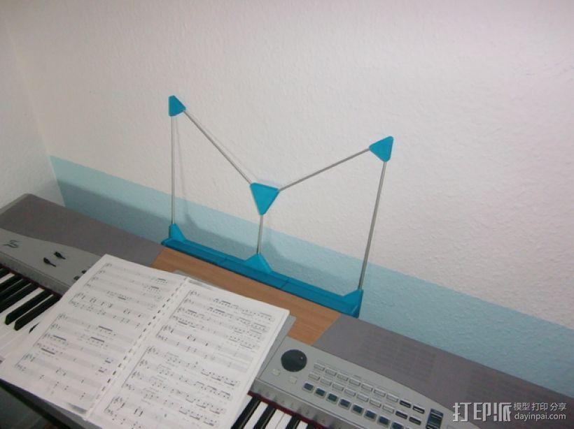 定制化乐谱架 3D模型  图1