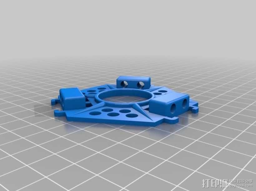 迷你万向轮机器人支架 3D模型  图3