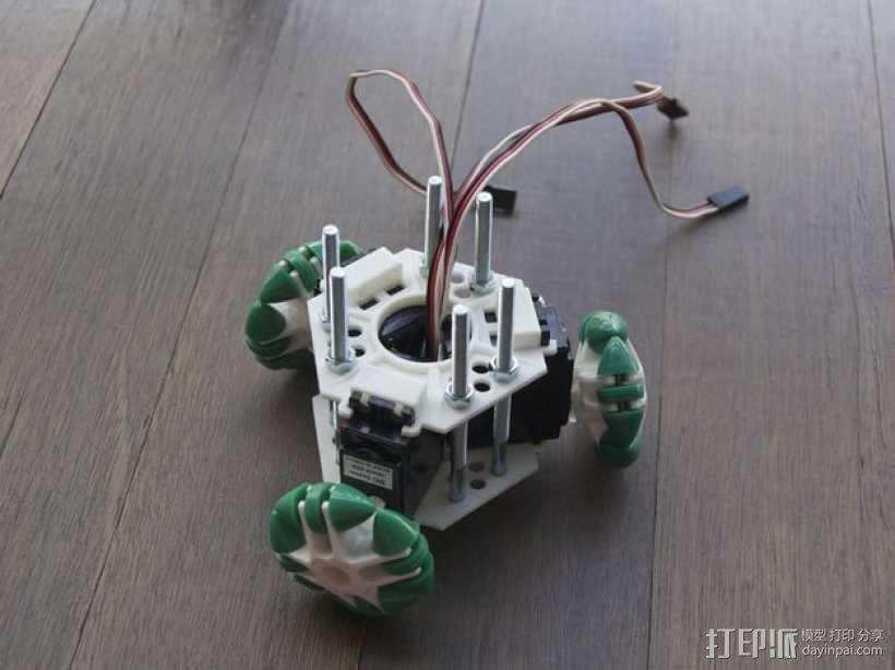 迷你万向轮机器人支架 3D模型  图1