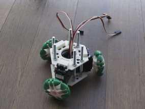 迷你万向轮机器人支架 3D模型