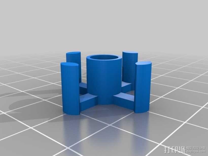 迷你万向轮机器人支架 3D模型  图4
