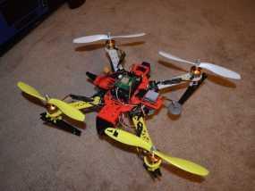 模块化四轴飞行器支架系统 3D模型