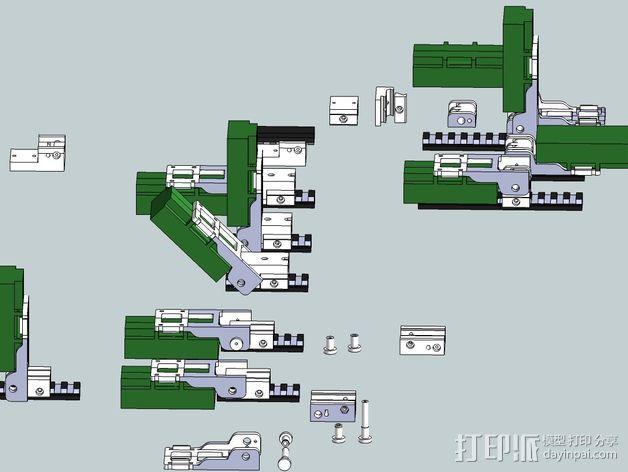 皮卡汀尼导轨支架 3D模型  图4