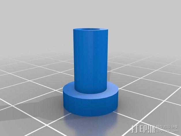 皮卡汀尼导轨支架 3D模型  图5