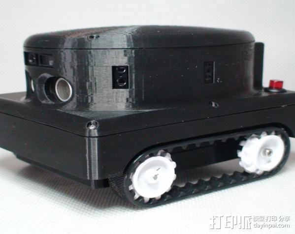 Meshbot 2履带式机器人 3D模型  图2