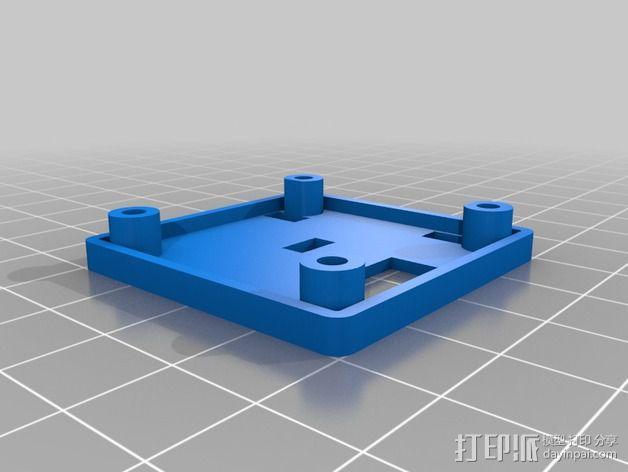 Naze32控制器板 外壳 3D模型  图3
