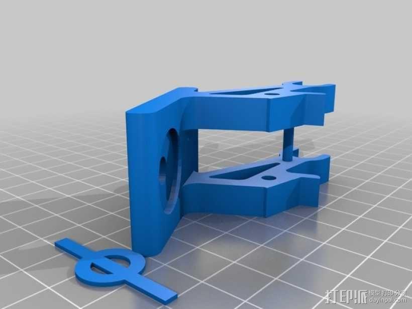 FUTABA T8J显示器支架 3D模型  图1