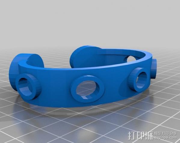 三色LED手镯 3D模型  图5