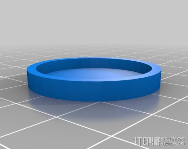 三色LED手镯 3D模型  图6