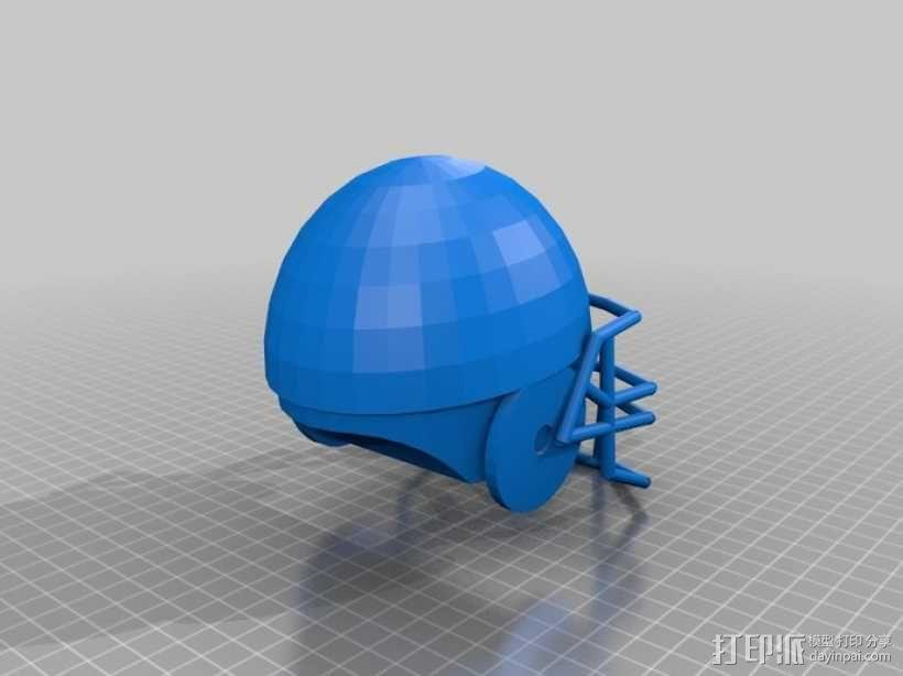 橄榄球头盔 3D模型  图1