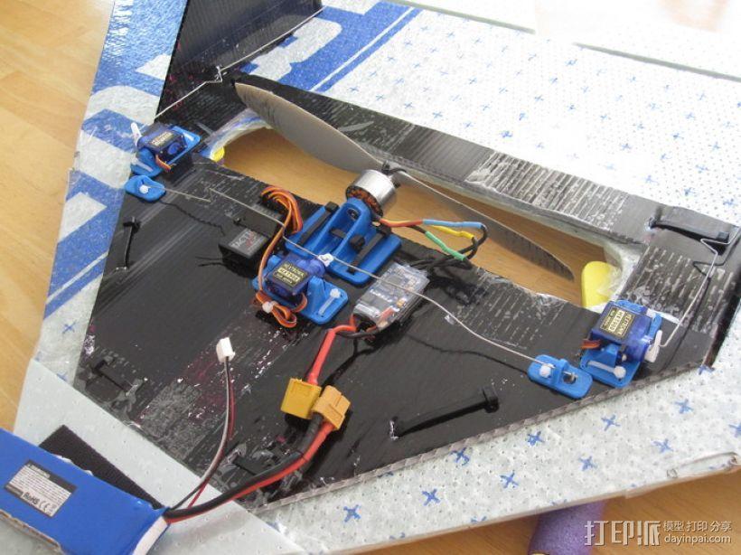 遥控飞机零部件 3D模型  图1
