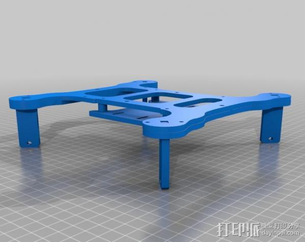 Flone四轴飞行器底板 3D模型  图5