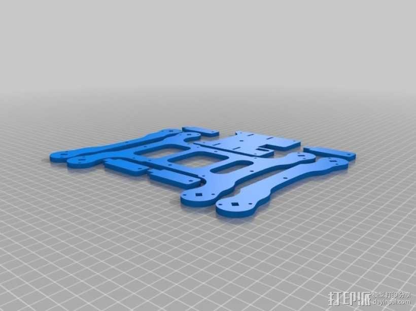 Flone四轴飞行器底板 3D模型  图6