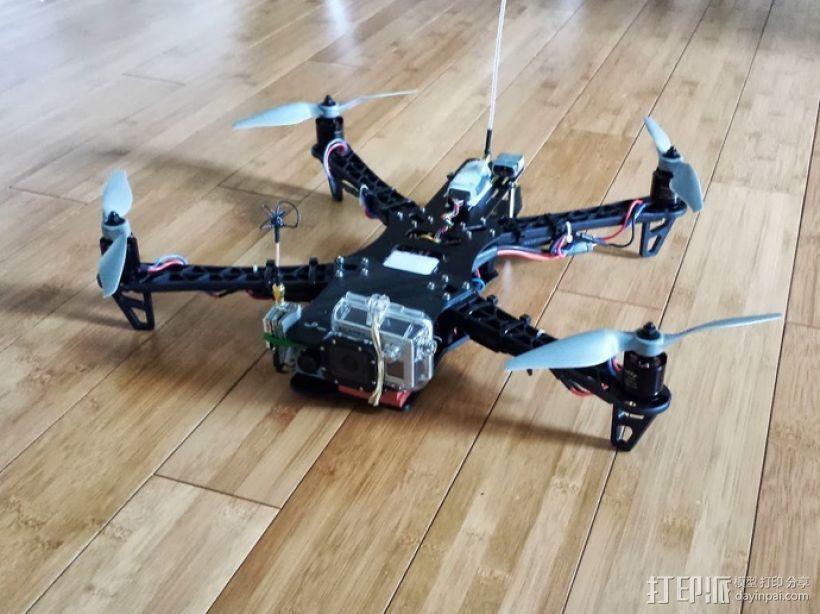 四轴飞行器延长板 3D模型  图1