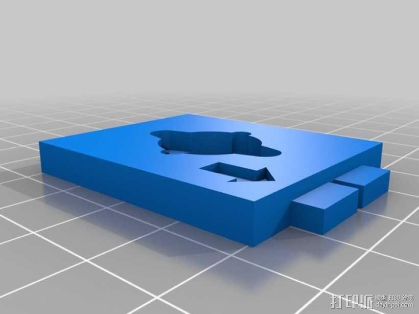 四轴飞行器延长板 3D模型  图4