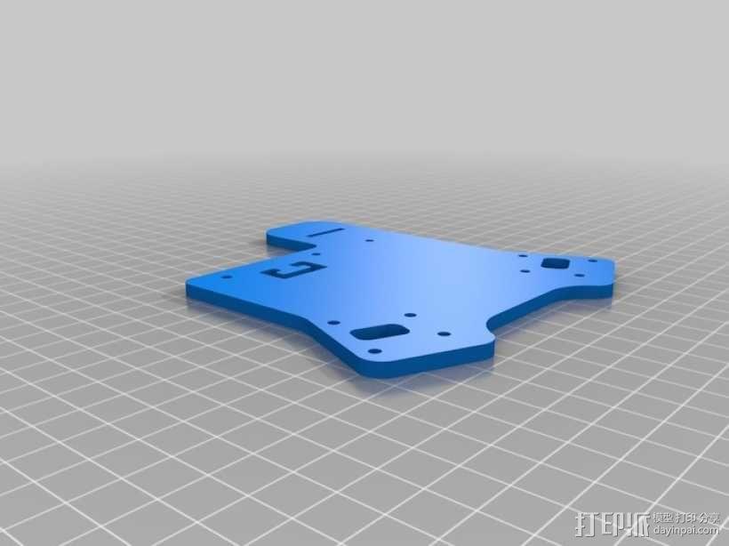 四轴飞行器延长板 3D模型  图6