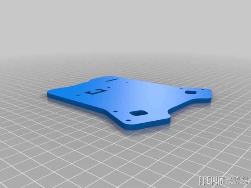 四轴飞行器延长板 3D模型  图5