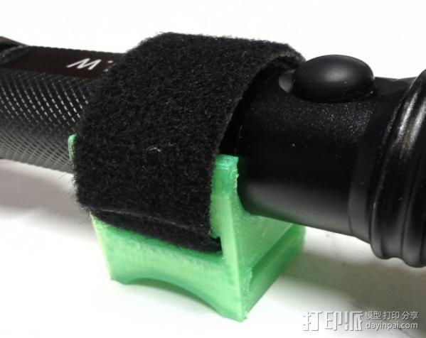 自行车手电筒支架 3D模型  图3
