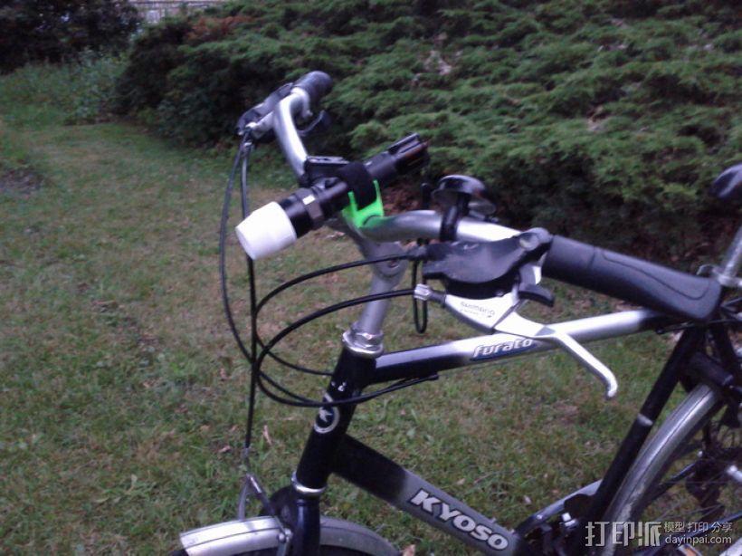 自行车手电筒支架 3D模型  图1