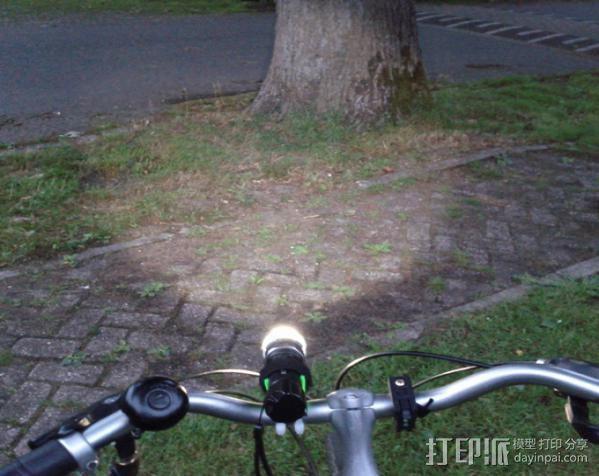 自行车手电筒支架 3D模型  图6