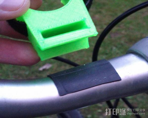 自行车手电筒支架 3D模型  图4