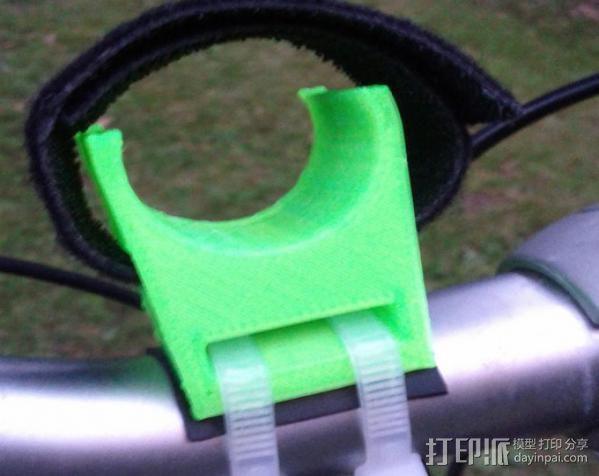 自行车手电筒支架 3D模型  图5