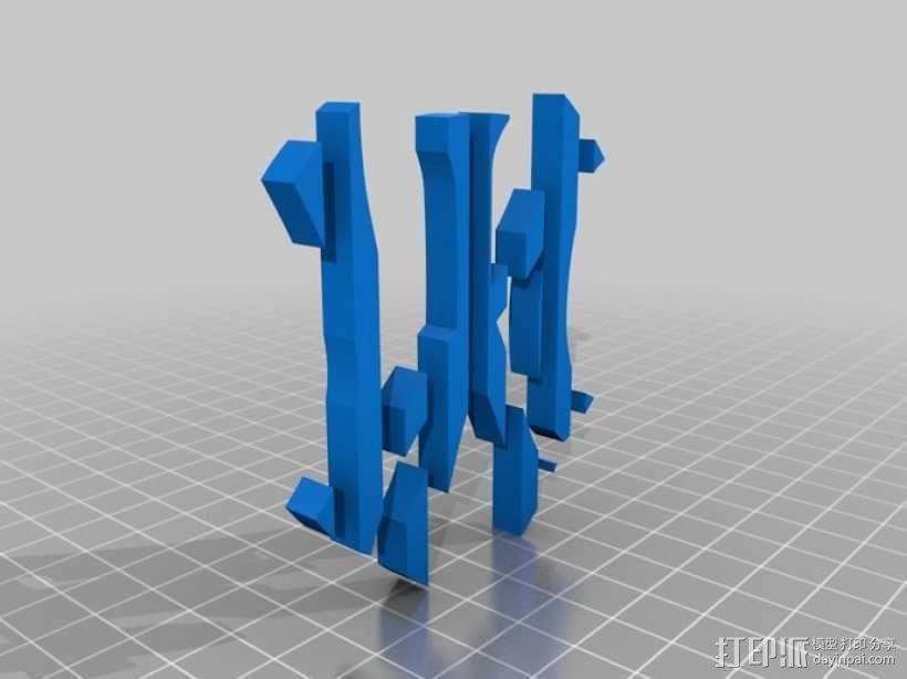 纽约扬基棒球队 标志 3D模型  图3
