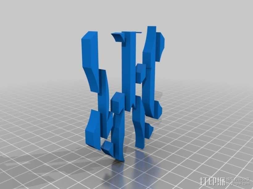 纽约扬基棒球队 标志 3D模型  图2