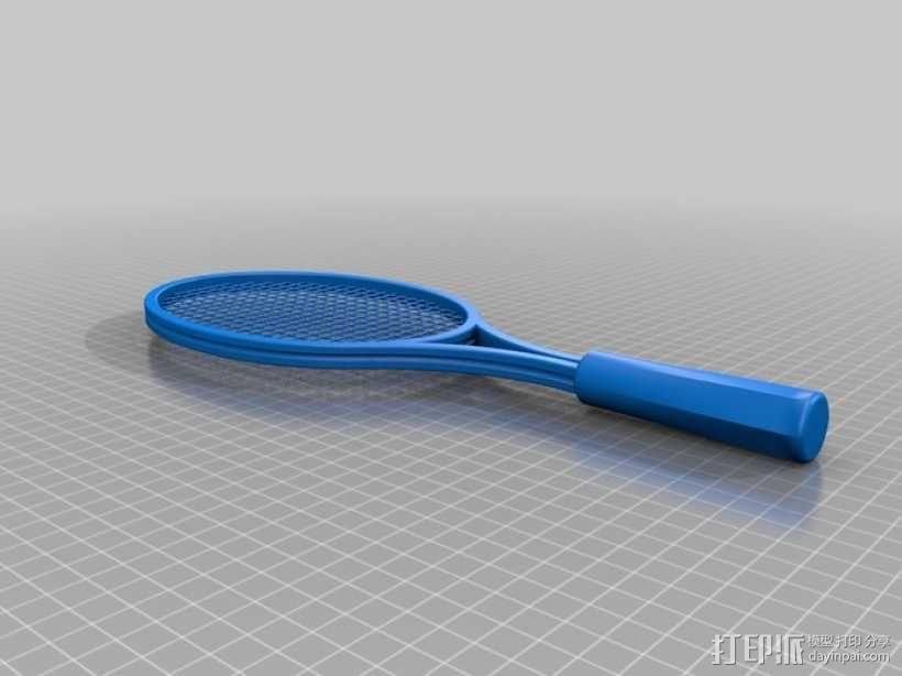 网球球拍 3D模型  图1