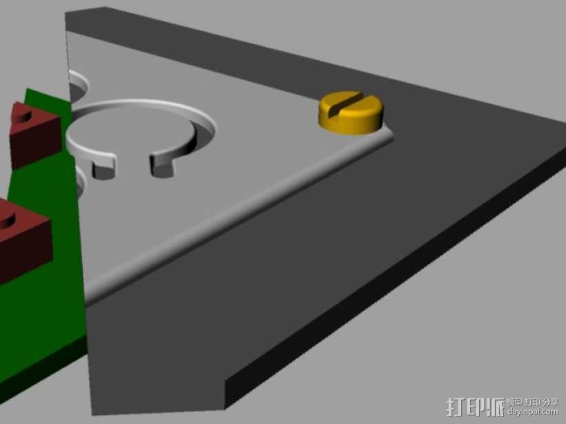定制化键盘 排字机 3D模型  图9
