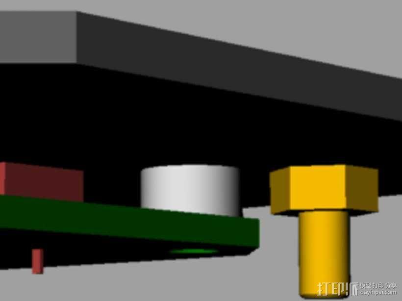 定制化键盘 排字机 3D模型  图10