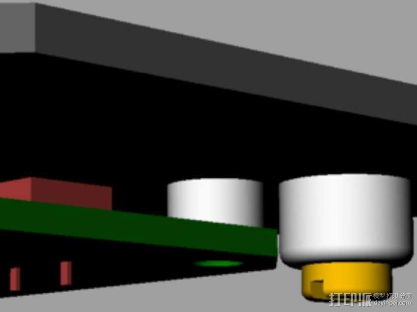 定制化键盘 排字机 3D模型  图12