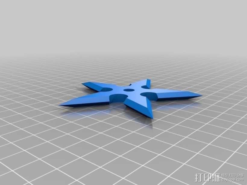 手里剑 3D模型  图2