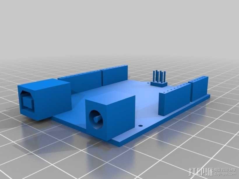 Arduino Uno R3电路板外壳 3D模型  图2