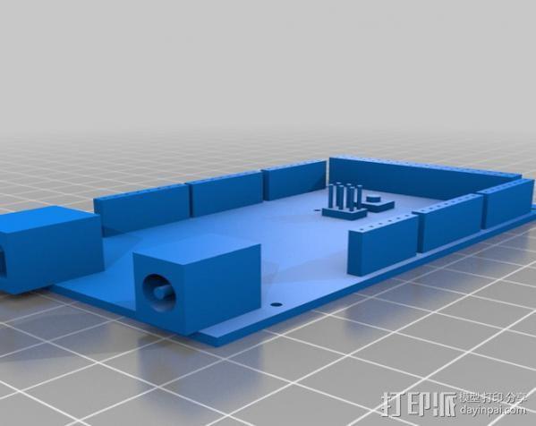 Arduino Mega电路板外壳 3D模型  图2