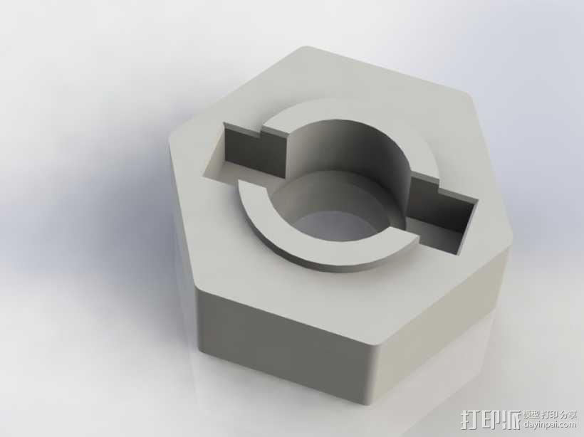 遥控赛车六边形轮胎 3D模型  图1