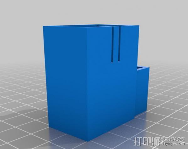 拨动开关 电池盒 3D模型  图2