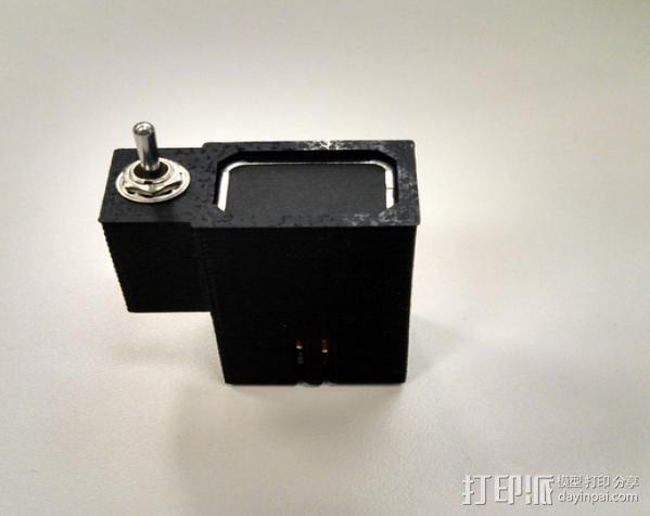 拨动开关 电池盒 3D模型  图1