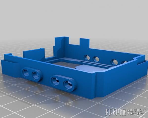 Arduino UNO和Adafruit WAV电路板外壳  3D模型  图2