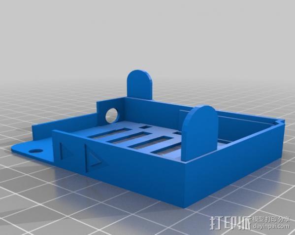 Arduino UNO和Adafruit WAV电路板外壳  3D模型  图3