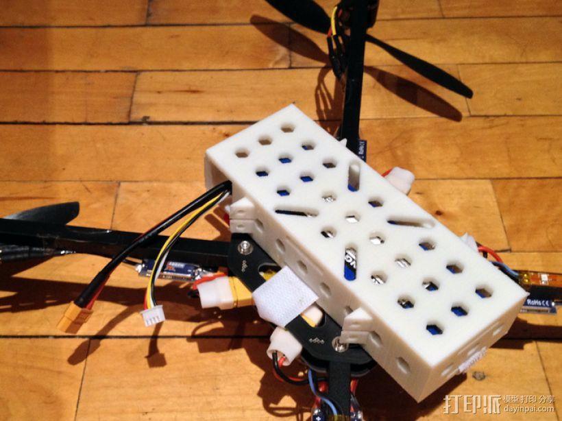 四轴飞行器 电池保护套 3D模型  图1