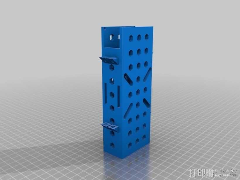 四轴飞行器 电池保护套 3D模型  图3