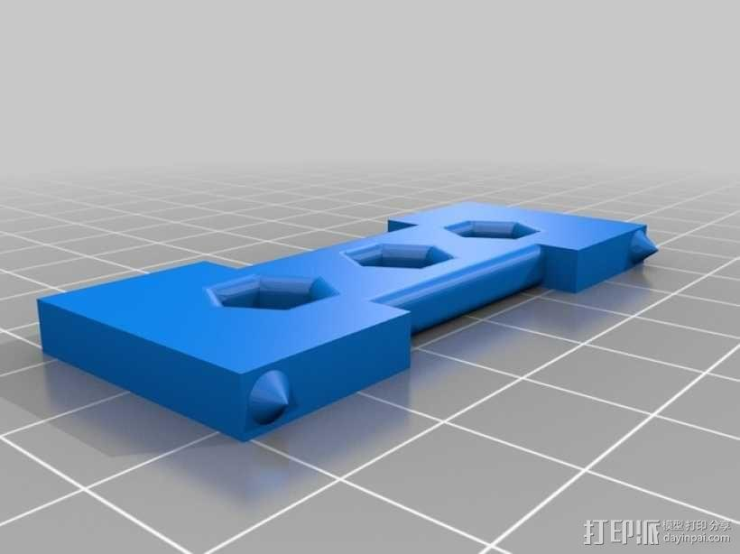 四轴飞行器 电池保护套 3D模型  图4