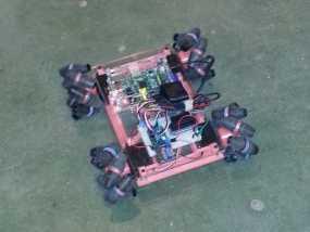 麦克纳姆轮 机器人 3D模型