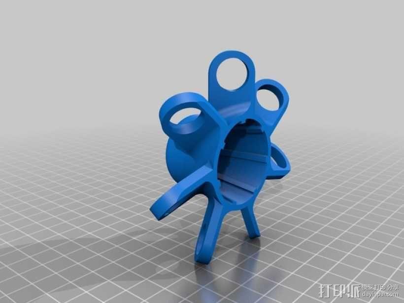 麦克纳姆轮 机器人 3D模型  图7