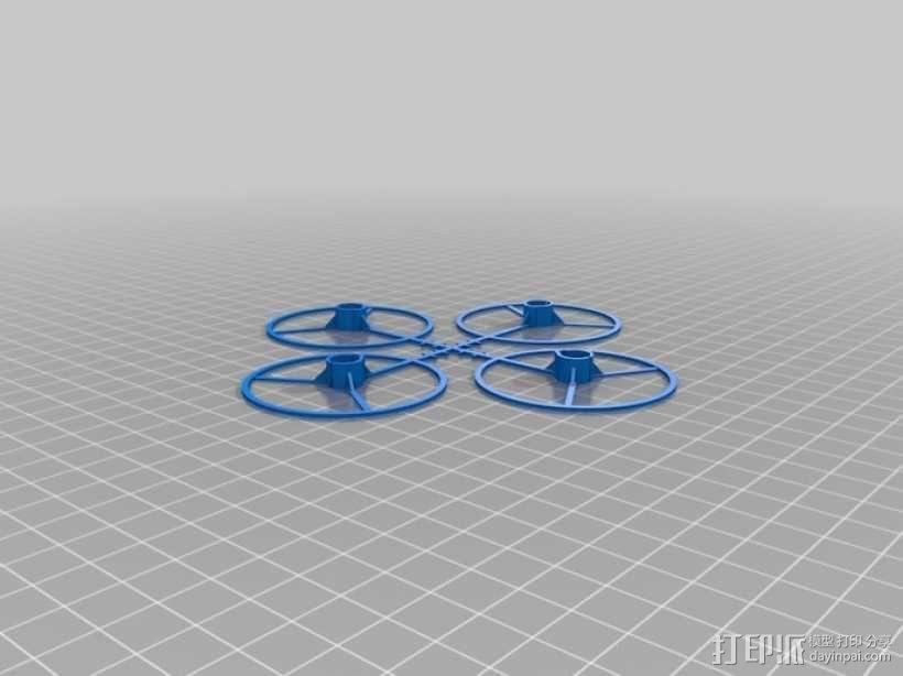 Bitcraze四轴飞行器保护架 3D模型  图2